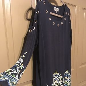 JM Collection Tunic Pattern Top